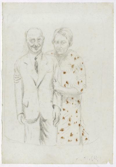 Ritratto del padre Giuseppe e della sorella Lidia / Portrait of Father Guseppe and Sister Lidia