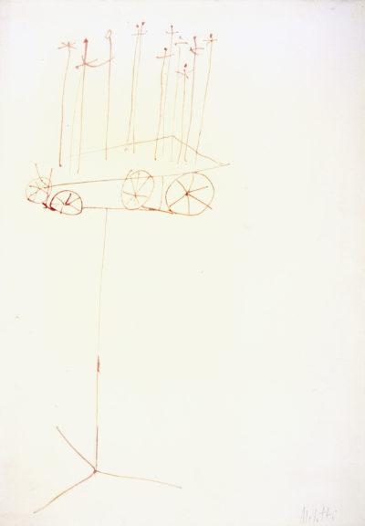 """Studio per scultura """"Il carro"""" / Study for Sculpture """"The Cart"""""""