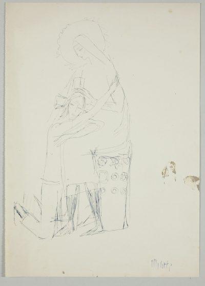 """Studio per scultura """"Gesù e Maria"""" / Study for Sculpture """"Jesus and Mary"""""""