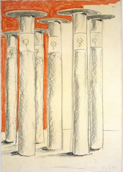 """Studio per scultura """"Scultura B (I Dioscuri)"""" / Study for Sculpture """"Sculpture B (Dioscuri)"""""""