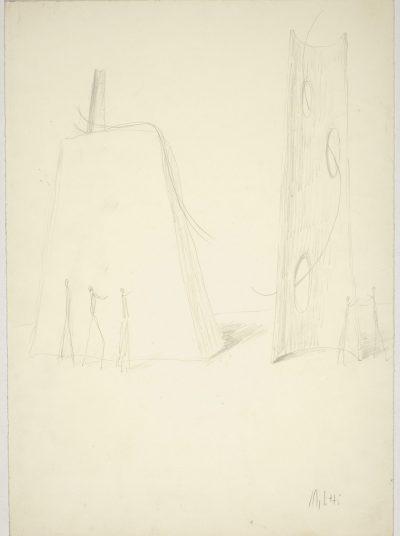 """Studio per scultura """"Clair de Lune"""" (verso) / Study for Sculpture """"Clair de Lune"""" (verso)"""