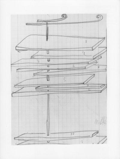 Disegno – Progetto per scultura / Drawing – Project for Sculpture