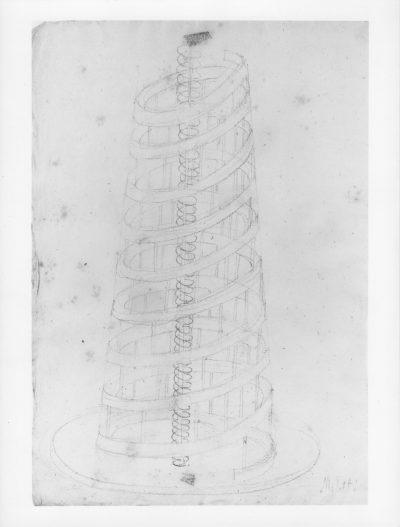 """Disegno – Progetto per scultura """"Spirale"""" / Drawing – Project for Sculpture """"Spiral"""""""