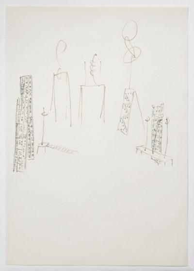 "Disegno – Studio per ""I luoghi deputati"" / Drawing – Study for ""The dedicated Places"""